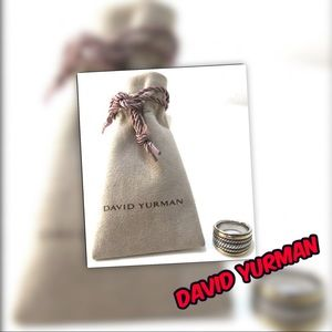 David Yurman 18k and 925 Sterling Cable Ring
